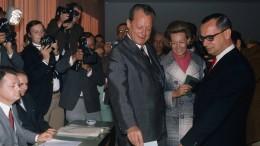 1969: Machtwechsel – ohne braunes Gespenst