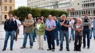 Wer sind Sie und wie viele? Bautzener AfD-Anhänger während einer Wahlkampfrede von Bernd Lucke