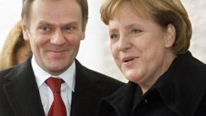 Merkel und Tusk nähern sich an
