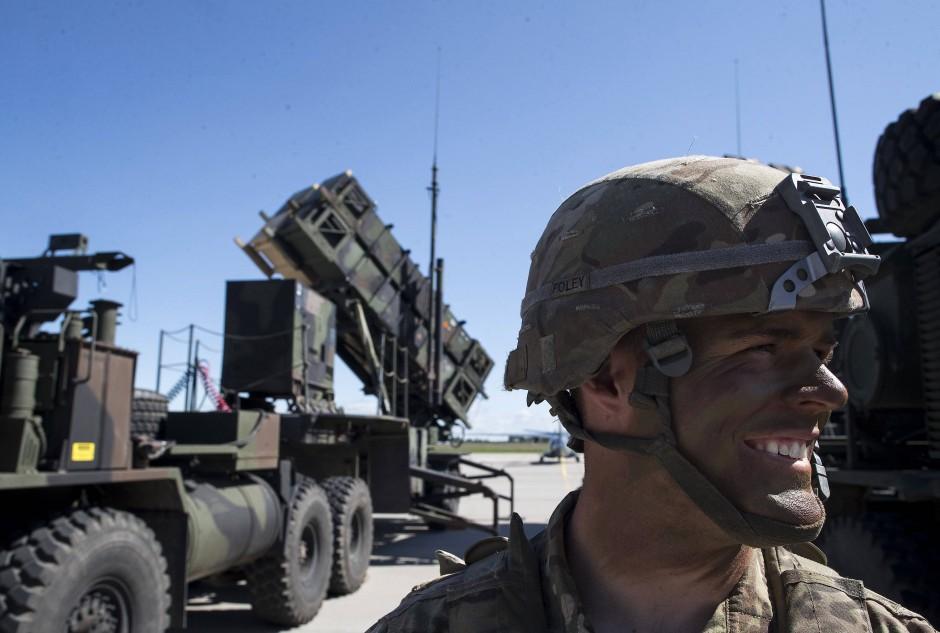 Ein Vorteil autonomer Waffen: Wo Drohnen zum Einsatz kämen, könnten Soldaten in Sicherheit bleiben.