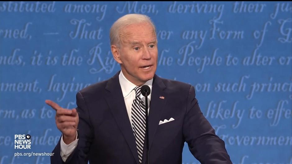 Lachte während der Debatte immer wieder sarkastisch auf, wenn Trump ihm ins Wort fiel: demokratischer Kandidat Joe Biden
