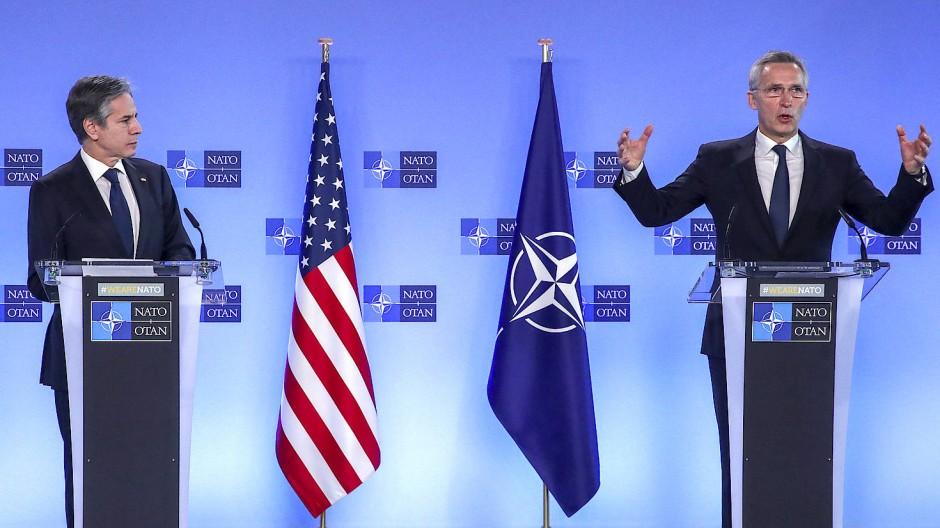 Der neue amerikanische Außenminister Blinken beim Antrittsbesuch in Brüssel