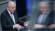 Bundesinnenminister Horst Seehofer (CSU) vor Kurzem im Bundestag