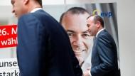 Die Union muss in Deutschland einen herben Verlust hinnehmen: EVP-Spitzenkandidat Manfred Weber (CSU)