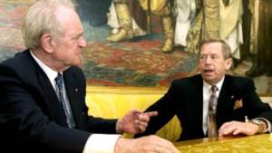 Rau und Havel warnen vor starken Worten im Wahlkampf