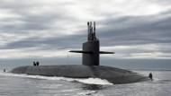 Teil der nuklearen Abschreckung: Die USS Tennessee, ein U-Boot der Ohio-Klasse, auf dem Rückweg zu seiner Basis Kings Bay im Bundesstaat Georgia
