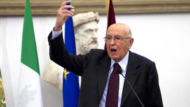 ITALIAN PRESIDENT NAPOLITANO