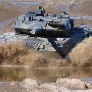 Die Nachfrage im Ausland ist groß: ein Kampfpanzer Leopard 2