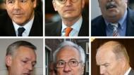 Die Angeklagten: Ackermann, Esser, Ladberg, Droste, Funk, Zwickel