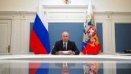 Russlands Präsident Wladimir Putin am 30. Juni während einer Videokonferenz