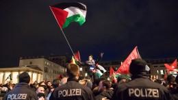 Palästinenser protestieren in Berlin