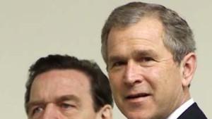 Schröder und Bush bleiben höflich uneinig
