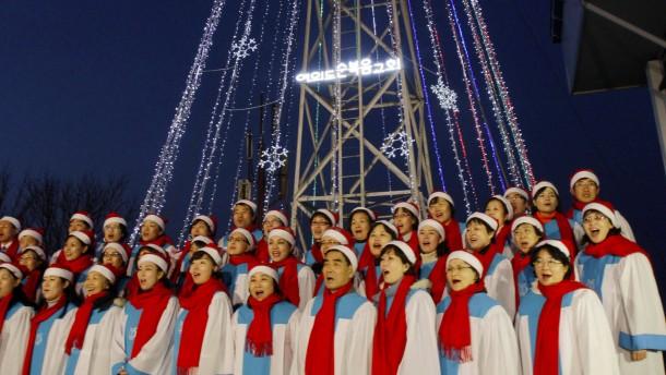 Südkorea provoziert wieder mit Weihnachtsbaum