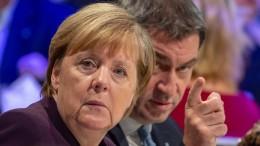 Merkel und Seehofer weisen Söders Vorstoß zurück