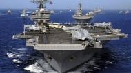 Der Flugzeugträger USS Ronald Reagan ist Teil der schlagkräftigen Armada Amerikas in Reichweite der koreanischen Halbinsel