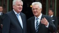 Über Eckpunkte: Seehofer (links) und Kretschmann