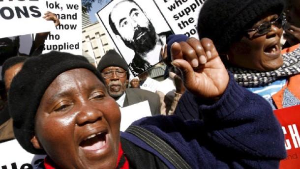 Später Prozess in Südafrika