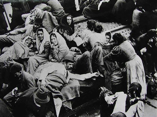 Deutsche Auswanderer auf einem Schiff nach Amerika