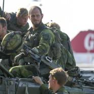 Soldaten der schwedischen Armee bei einer Übung auf Gotland am 14. September 2016
