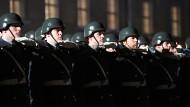 Angetreten: Soldaten des Wachbataillons bei der Verabschiedung von Bundespräsident Joachim Gauck