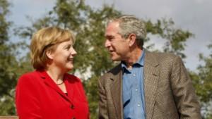 Bush und Merkel wollen diplomatische Lösung mit Iran