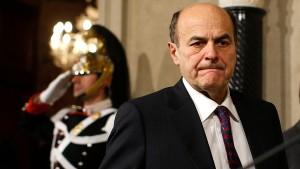 Italy's PD (Democratic Party) leader Pierluigi Bersani arrives to attend a news conference following a meeting with Italian President Giorgio Napolitano at the Quirinale Presidential palace in Rome