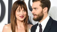 "Dakota Johnson und Jamie Dornan (am 12. Februar 2015 bei der Premiere von ""Fifty Shades of Grey"" am 12. Februar 2015 in London) waren für die Verleiher der ""Goldenen Himbeere"" im vergangenen  Kinojahr das schlechteste Leindwandpaar."