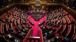 Italiens Senat lehnt Gesetzentwurf ab
