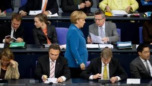 Merkel wirft SPD in Euro-Krise Unzuverlässigkeit vor