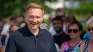 Locker bleiben: Christian Lindner am Sonntag im Ostseebad Binz