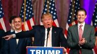 Sieger durch Fast-K.O.: Donald Trump nach seinem Vorwahlsieg in Florida