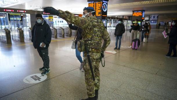 Mit Soldaten gegen die Pandemie