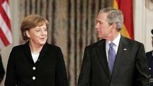 Bush kommt nach Stralsund