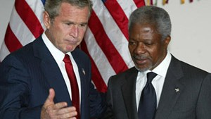 Bush für Prozeß im Irak - Annan gegen Todesstrafe
