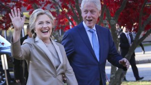 Die Clintons kommen zu Trumps Vereidigung