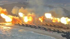 Nordkorea hält offenbar Artillerie-Manöver ab
