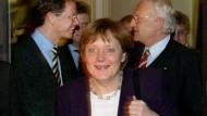 Abschied kurz nach Mitternacht: Westerwelle, Merkel und Stoiber