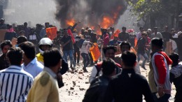 Unruhen in Delhi überschatten Trumps Besuch