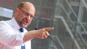 Den einzigen Trumpf ließ Schulz stecken
