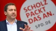 SPD-Generalsekretär Lars Klingbeil am 26. August in Berlin