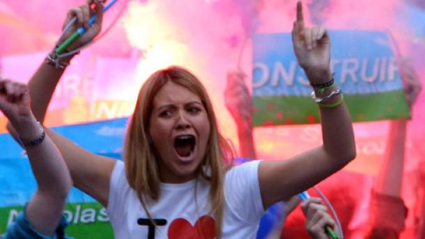 Die Marseillaise für den neuen Präsidenten