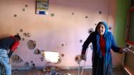 Zehntausende Zivilisten im Südosten der Türkei leiden unter den Kämpfen: Zerstörtes Haus in Nusaybin