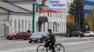 Noch näher an Russland: Straßenszene aus Luhansk