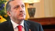 Angstrengt: Recep Tayyip Erdogan