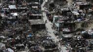 """Ein Blick auf Jeremie im Südwesten Haitis, nachdem """"Matthew"""" abgezogen ist"""