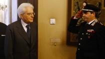 Gewählt: Sergio Mattarella bei der Ankunft in der Wahlversammlung
