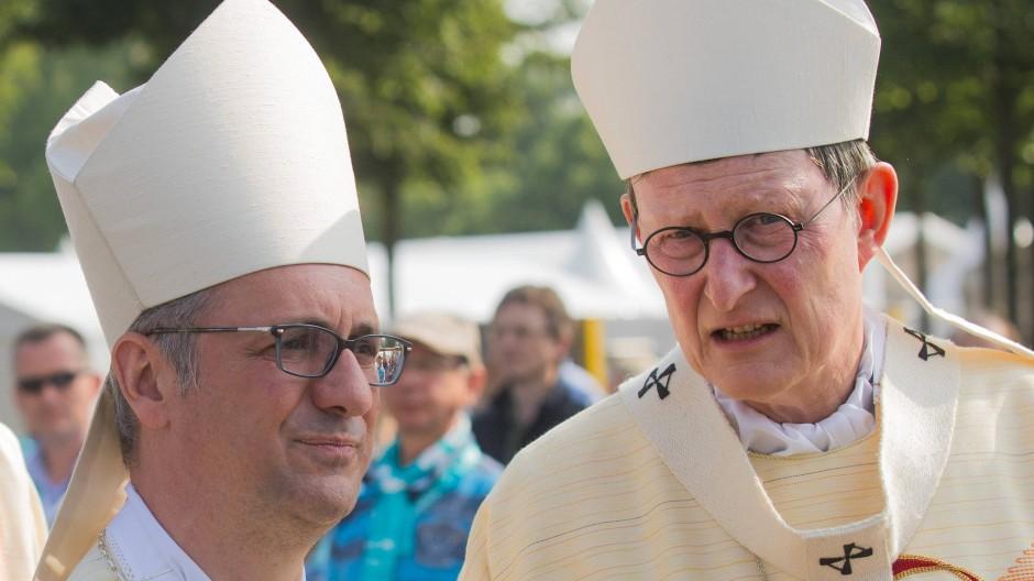 In vermeintlich besseren Tagen: Heße (links) und Woelki während des Katholikentags in Münster im Mai 2018