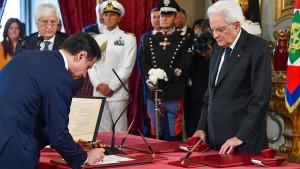 Mehr als Hälfte der Italiener mag neue Regierung nicht