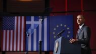 Letzte Reden zum Abschied: Barack Obama spricht im Stavros Niarchos Foundation Cultural Center in Athen.