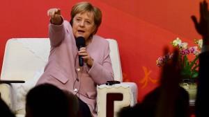 Merkel setzt auf Dialog in Hongkong